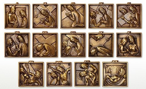 Stations of The Cross - Set of 14 Solid Brass