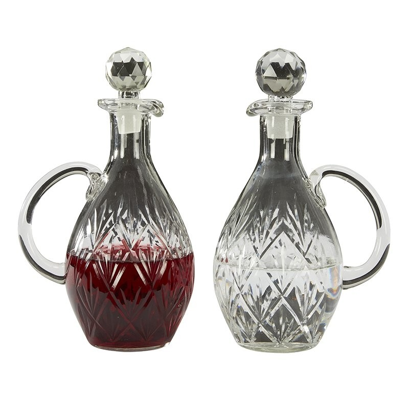 Sudbury Brass™ Blown Glass Cruet Set
