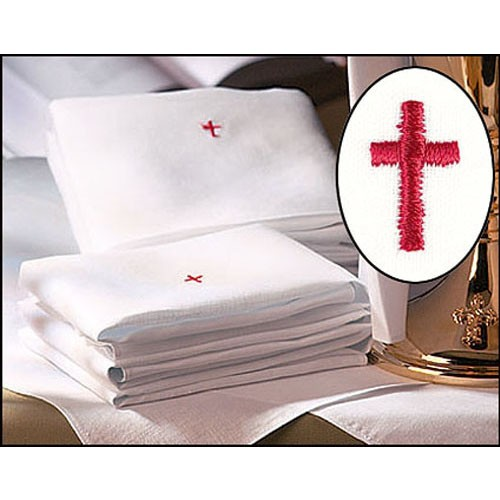 100% Linen Lavabo Towels with Red Cross