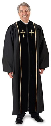 Men's Pulpit Robe with Crosses