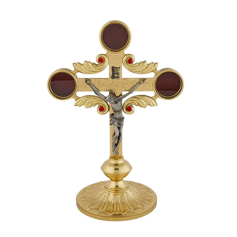 Two Tone Church Reliquary with Crucifix