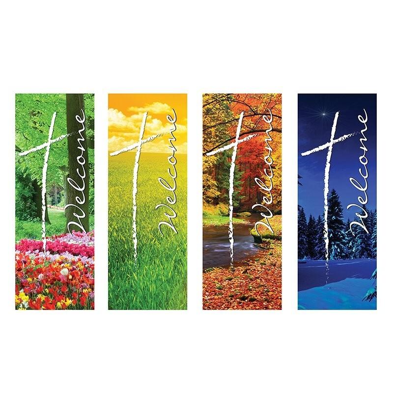 Welcome Series Seasons Church Banners Set
