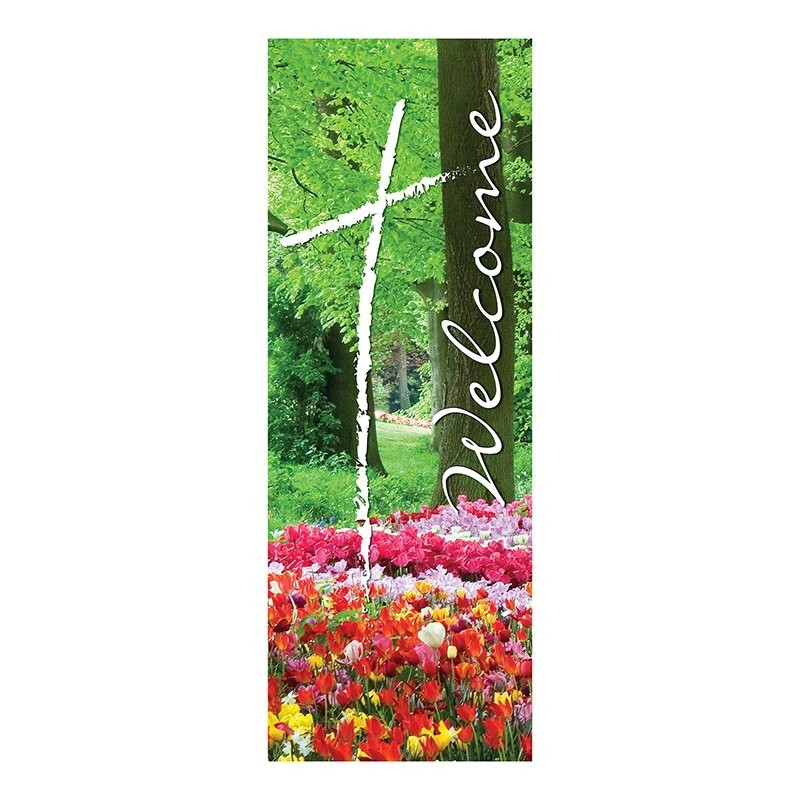 Welcome Series Spring Church Banner