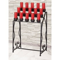 15 Light Church Votive Stand with Leaf Cups