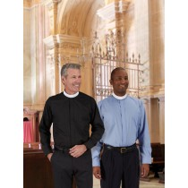 R.J. Toomey Long Sleeve Neckband Clergy Shirt