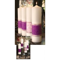 Advent Pillar Candles Emmanuel Series