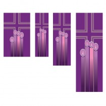 Advent Candles Church Banner
