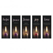 Advent Candles X-Stand Church Banners-Set of 5