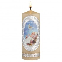 Baptism Candle-Baby with Dove