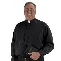 Big and Tall Mens Clergy Shirt Long Sleeve