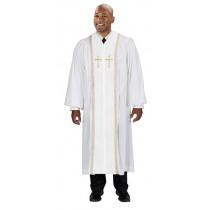 White Cambridge Peachskin Pulpit Robe