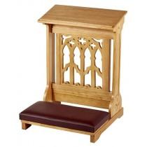 Canterbury Padded Kneeler Medium Oak Statin