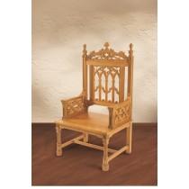 Canterbury Collection Church Altar Celebrant Chair - Medium Stain