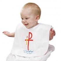 Chi Rho Baptismal Bib for Baby