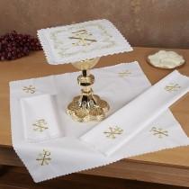 Chi Rho Cross Altar Linen Gift Set
