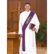 Chi Rho Purple Deacon Stole