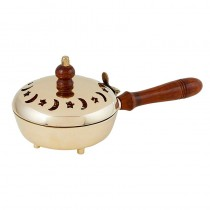 Church Incense Burner with Wood Handle