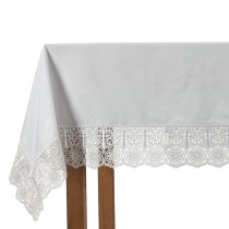 Cross Lace Trim Altar Frontal