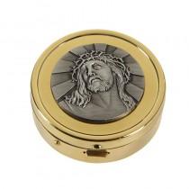 Ecce Homo Communion Pyx - 24kt Gold Plated