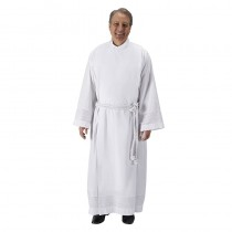 Embroidered Inset Clergy Alb