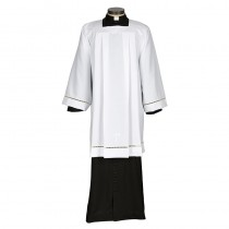 Eyelet Edged with Embroidered Cross Surplice