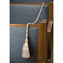 Gethsemane White and Gold Church Pew Rope