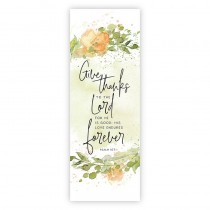 Give Thanks to the Lord For He is Good Church Banner