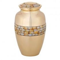 Gold Brass Cremation Urn