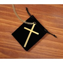 Gold Plate Clergy Pectoral Cross