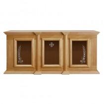 Holy Trinity Ambry Display Cabinet Oak