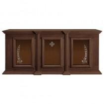 Holy Trinity Ambry Display Cabinet Walnut