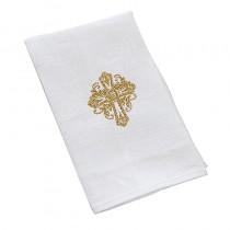 Holy Trinity Baptismal Napkin Gold Cross