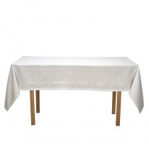 In Remembrance of Me Linen Altar Frontal