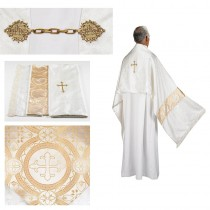 Jacquard Clergy Humeral Veil with Gold Cross