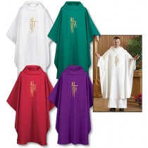 Monastic Chasuble Set of 4 Asst Colors