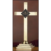 Altar Cross with IHS Emblem