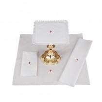 Lace Trim Cross Altar Linen Gift Set