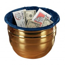Large Church Offering Pot with Blue Liner