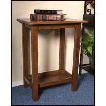 Church Credence Table in Dark Maple