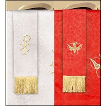 Reversible Bookmark with Dove: Red/White Parament