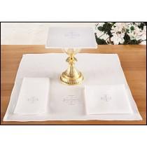 altar linen set with jerusalem cross