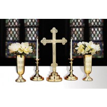 Budded Cross Altar Cross Set