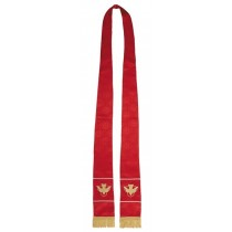 Maltese Jacquard Red Clergy Stole