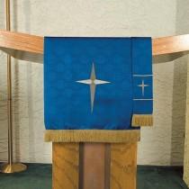 Maltese Jacquard Blue Advent Pulpit Scarf