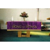 Maltese Jacquard Purple Altar Frontal