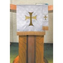 Maltese Jacquard White Pulpit Scarf