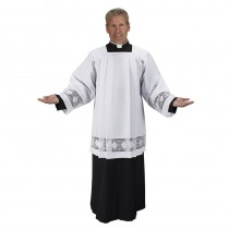 IHS Lace Insert Mens Clergy Surplice