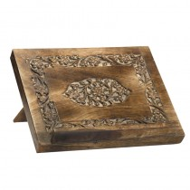 Medallion Wood Carved Bible Missal Stand