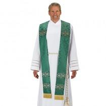 Monreale Green Overlay Clergy Stole