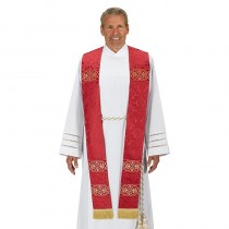 Monreale Red Overlay Clergy Stole